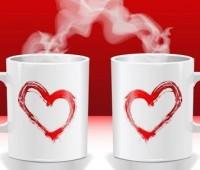 Imágenes de tazas de café con corazones