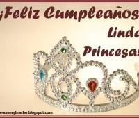 Tarjetas de feliz cumpleaños mi princesa