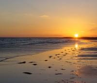 Imágenes de amanecer en la playa