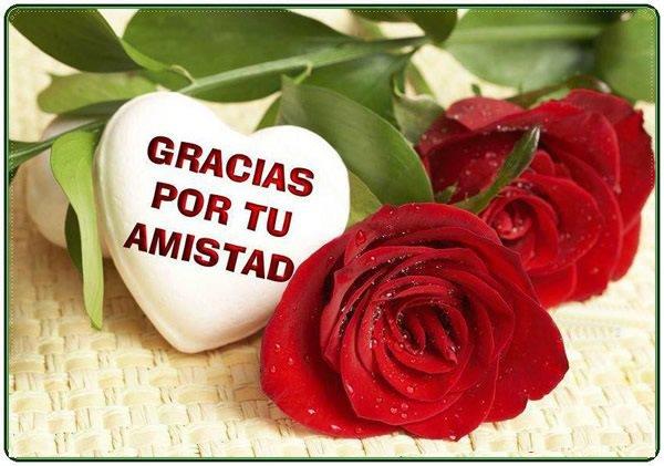 Imágenes de rosas con frases de amistad