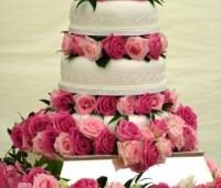 Imágenes de pasteles con rosas