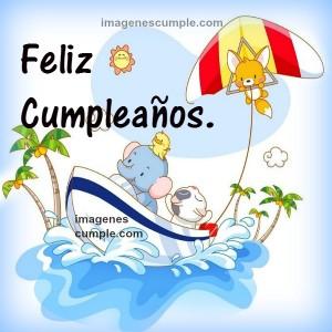 tarjeta bonita niños cumpleaños feliz