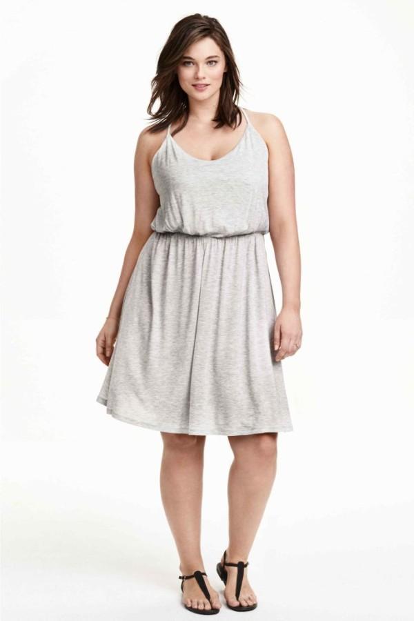 vestidos-para-gorditas-TENDENCIAS-vestido-gris-punto-hm-600x900