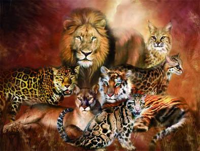 Alta-calidad-HD-3D-Lenticular-de-imágenes-de-tigre