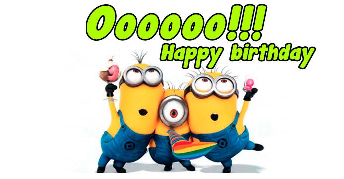 Imagen de los Minions para cumpleaños http://fechaespecial.com