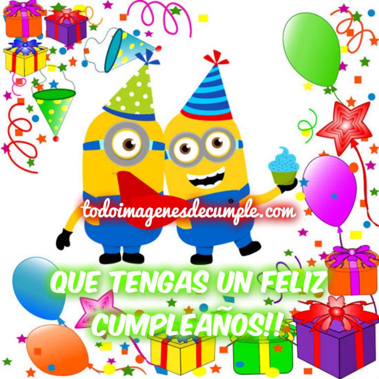 Imágenes de feliz cumpleaños con los minions | Descargar imágenes gratis