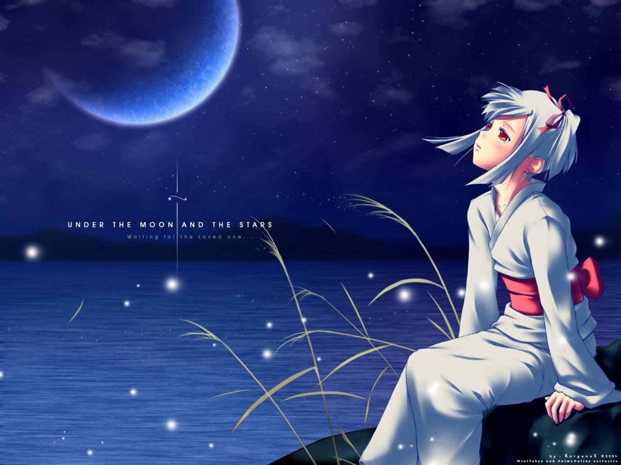 girl-moon-kimono-night