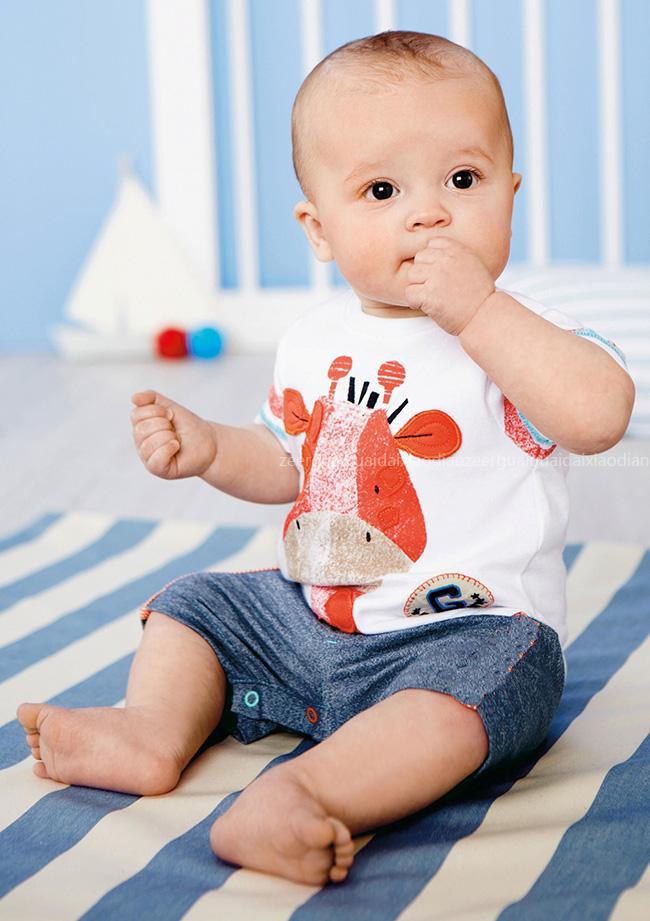 2015-nuevo-verano-niños-bebés-ropa-Set-de-girafa-infantil-mameluco-del-bebé-recién-nacido-bebé