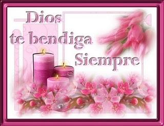 Dios te bendiga siempre vela rosa