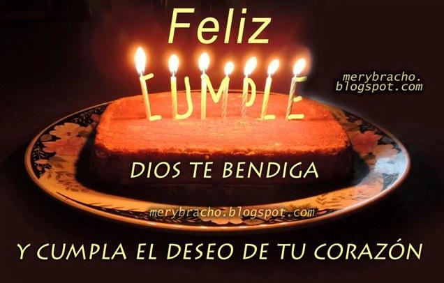 feliz cumpleaños cristiano  Dios te bendiga buenos deseos felicidades