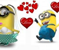Imágenes de los minions enamorados