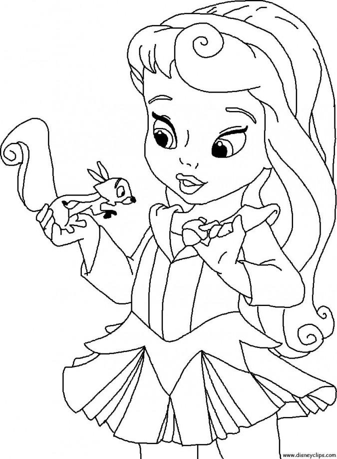 Dibujos-para-colorear-de-princesas-bebés-Blancanieves-675x918