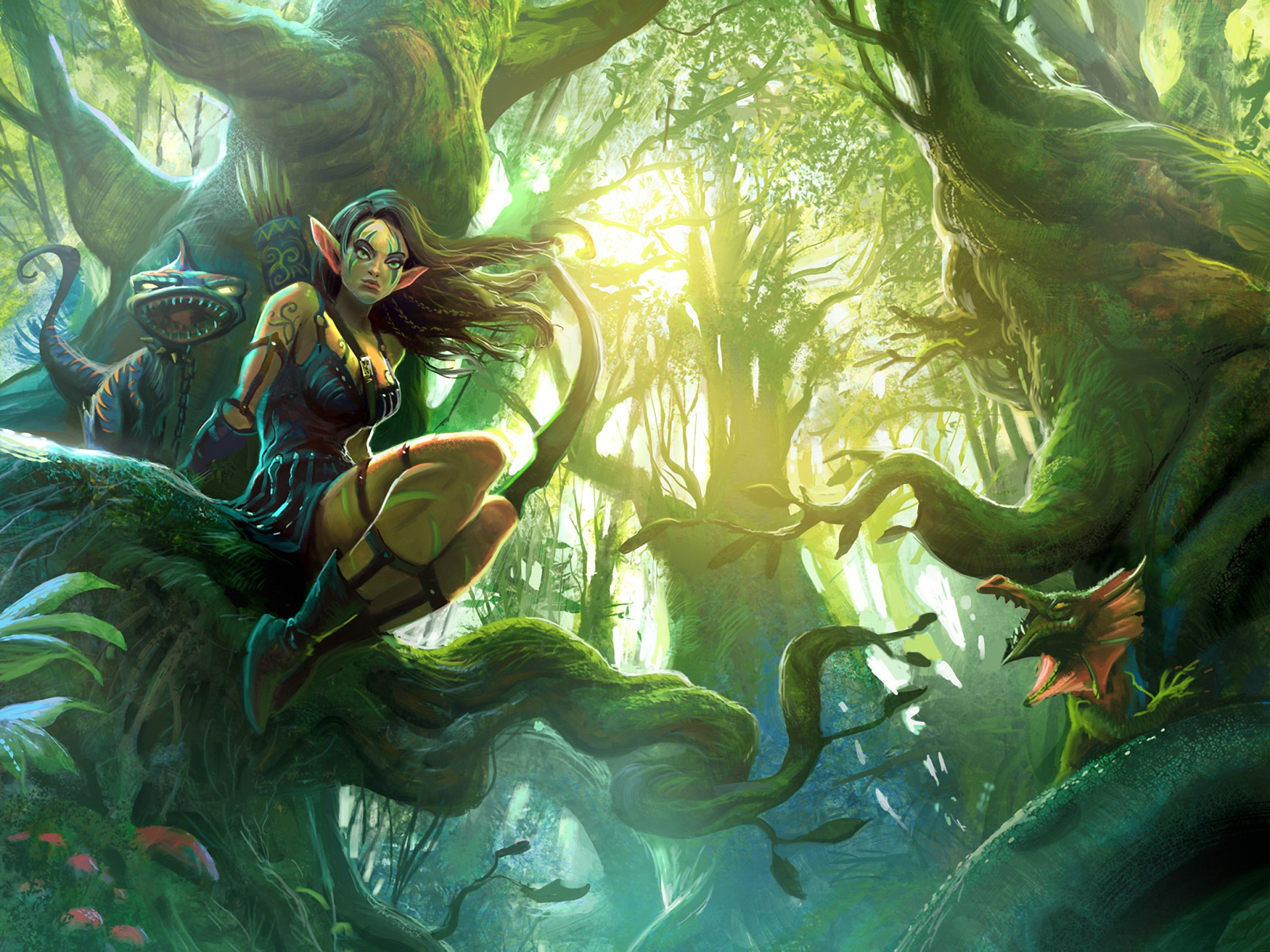 Fantasy-elves-girl-in-the-forest_1920x1440
