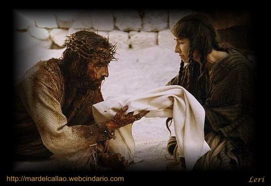 Jesús esta llorando con maria
