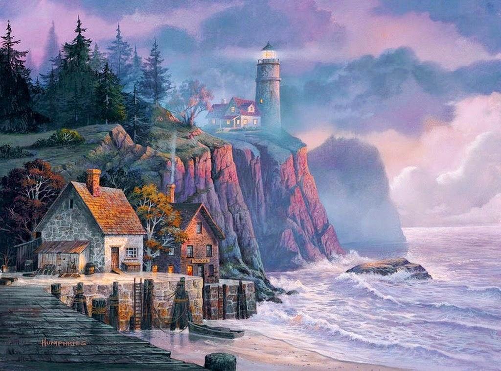 cuadros-de -paisajes-marinos-con-casas