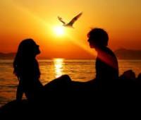Paisajes de atardeceres románticos