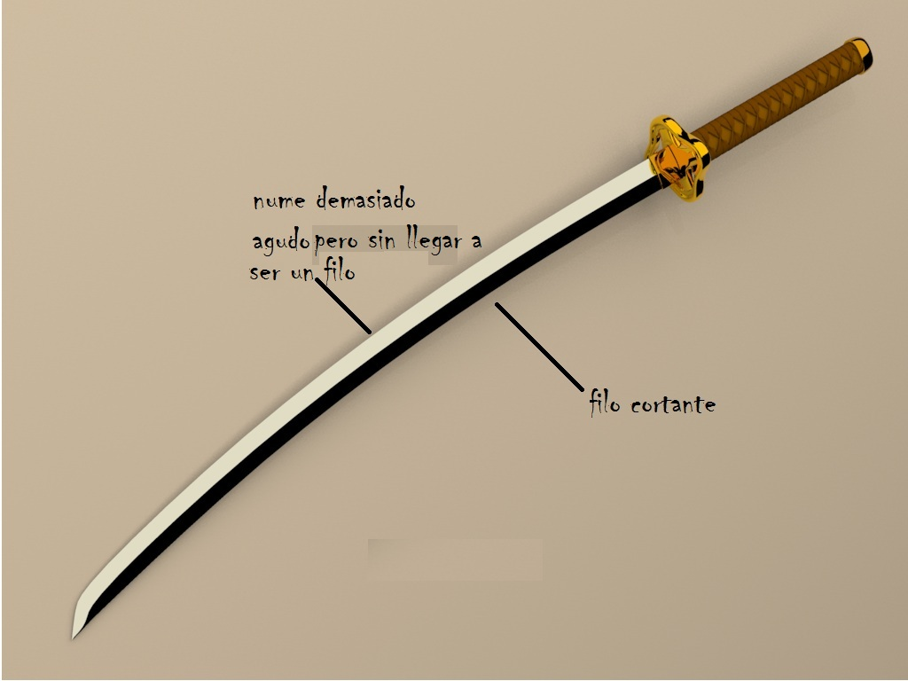 espada de filo invertido