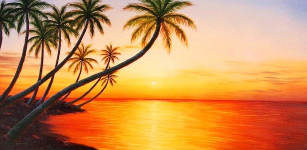 paisajes cuadros atardeceres playa (6)