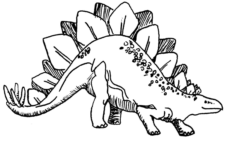 dinosaurio para coloerar Estegosaurios,