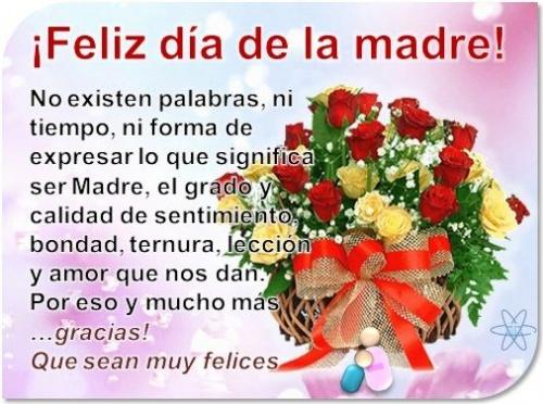 feliz día para mi madre