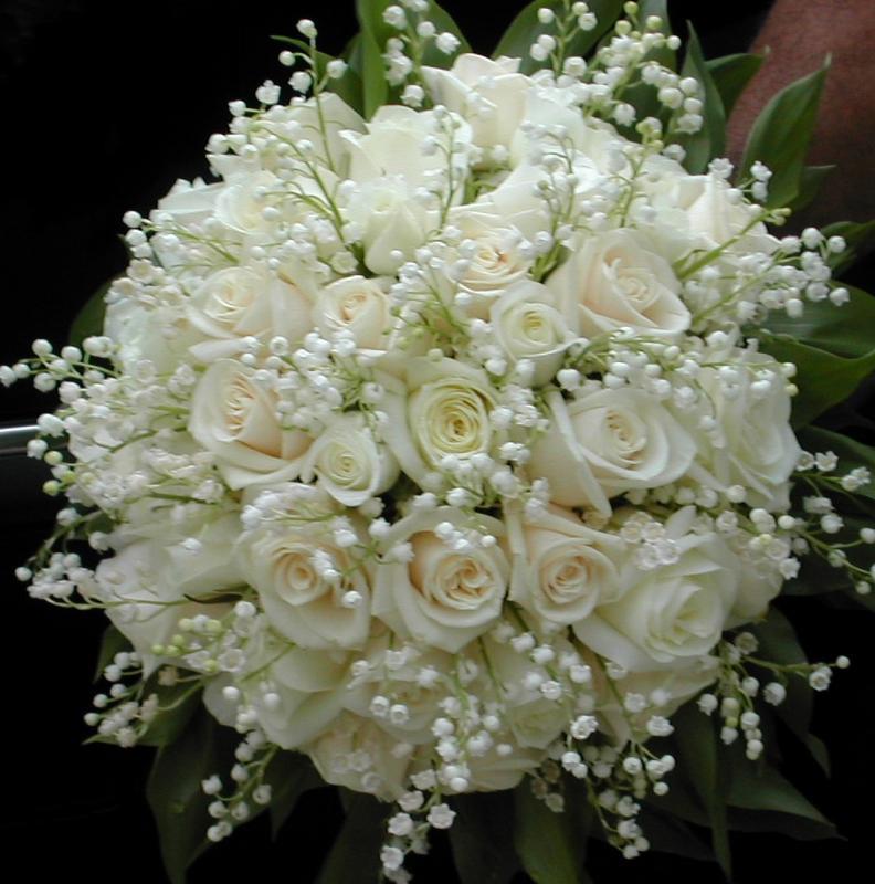 imágenes de ramos de rosas blancas para regalar