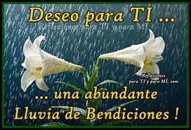 lluvia de bendiciones para ti