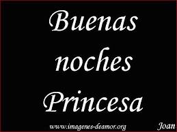 princesa buenas noches