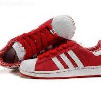 Imágenes de zapatos adidas en color rojo para mujer