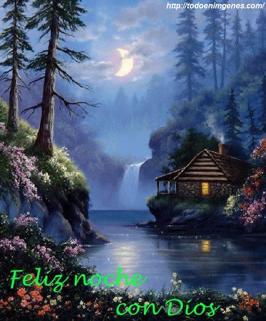 te deseo una feliz noche acompañado de Dios