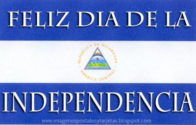 bandera de nicaragua feliz dia de la independencia