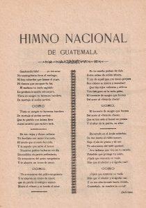 himno nacional de guatemala 1896