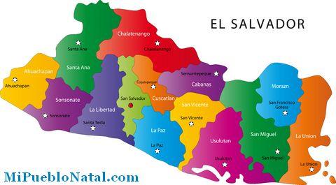 Imágenes Del Mapa Del Salvador Con Sus Departamentos Descargar