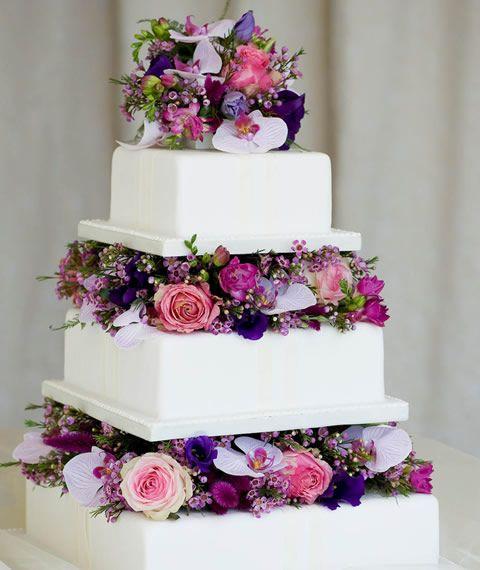 pastel para boda con adornos