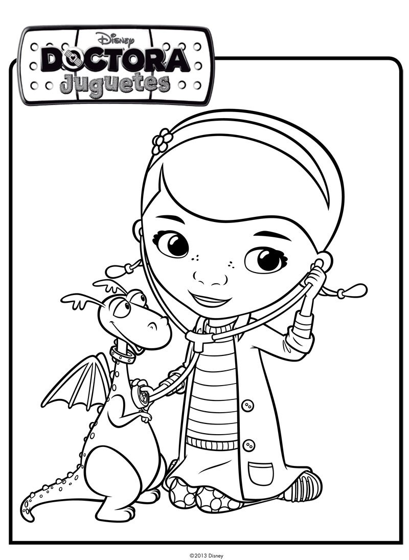 Imágenes de la doctora juguete para colorear | Descargar imágenes gratis