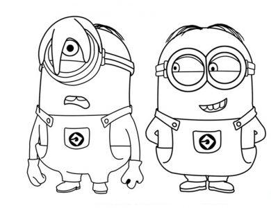 Dibujo-de-los-Minions-para-colorear