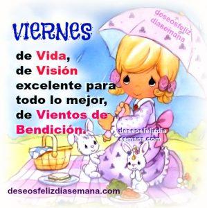 Feliz viernes bendiciones imagen cristiana buen deseo
