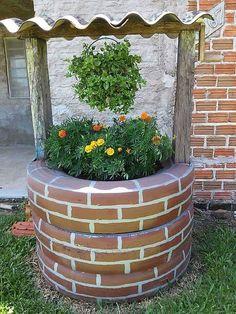 adornos-para-el-jardin-reciclados-llantas-usadas