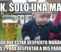Imagenes chistosas de bebes borrachos