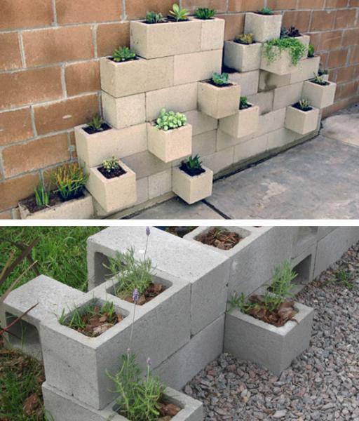 decoraciones-del-jardin-con-bloques-de-cemento-2