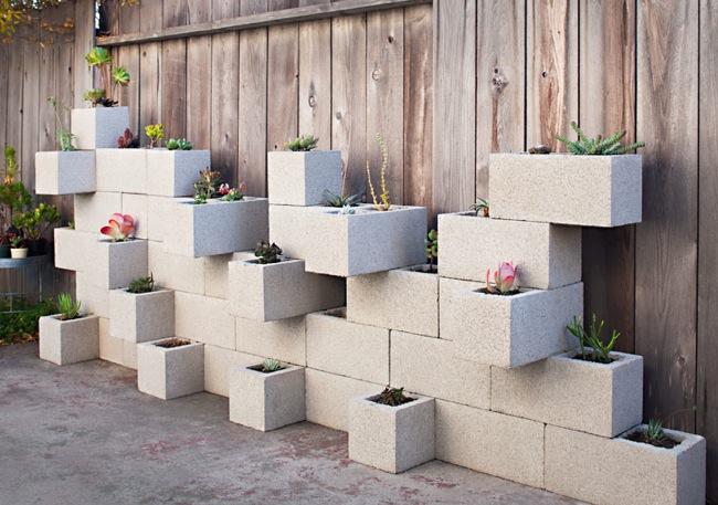 decoraciones-del-jardin-con-bloques-de-cemento-5