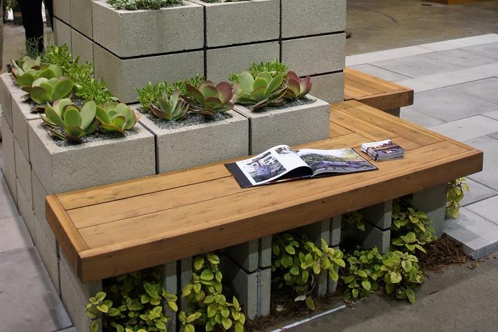 decoraciones-del-jardin-con-bloques-de-cemento