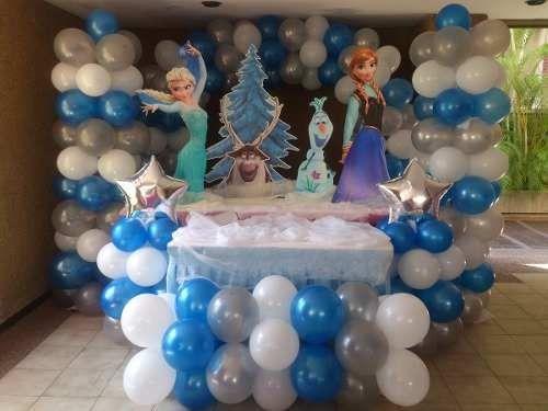 decoracion-con-globos-fiesta-frozen