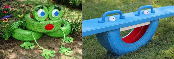decoracion-con-neumaticos-reciclados-adornos-para-el-jardin-reciclados