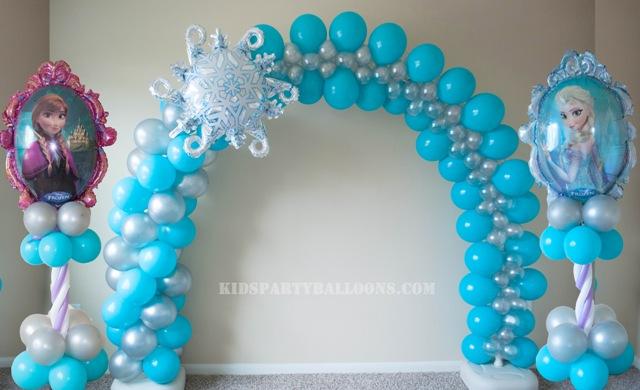 decoraciones-con-globos-de-frozen-2