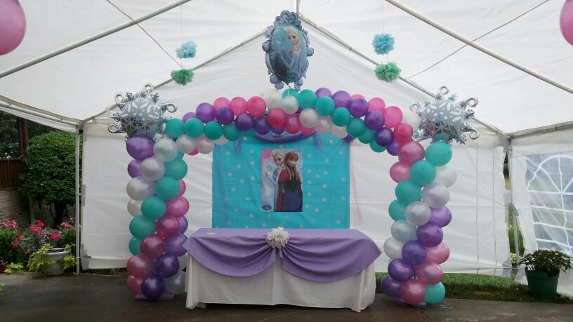 decoraciones-con-globos-de-frozen