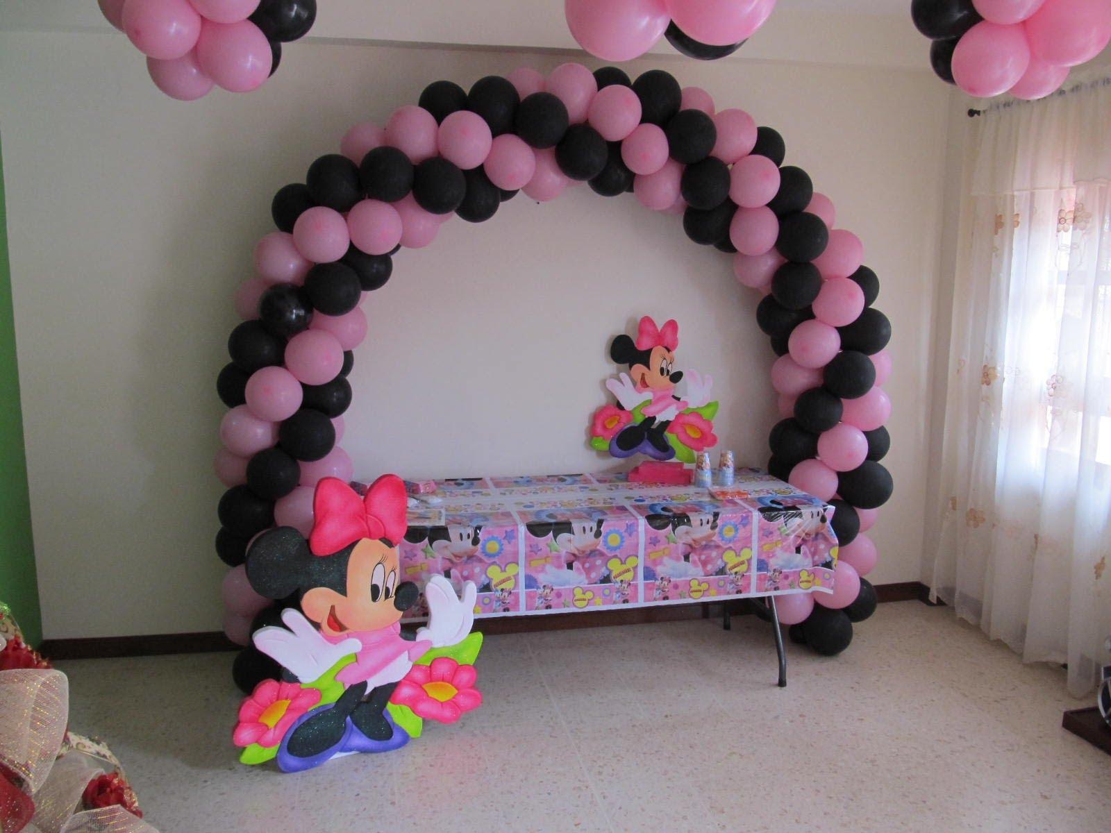 decoraciones-con-globos-de-minnie