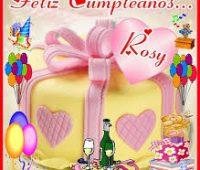 Imágenes de feliz cumpleaños Rosy