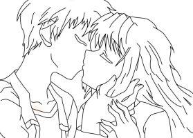 dibujos-de-pareja-besandose-para-colorear