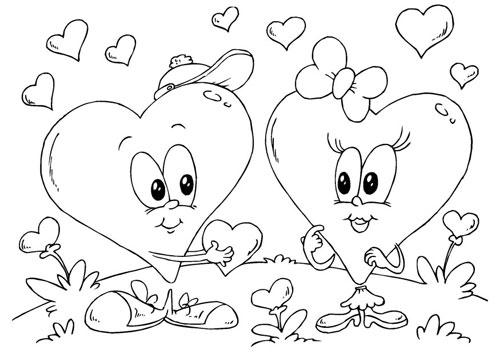 Imágenes de amor para colorear   Descargar imágenes gratis