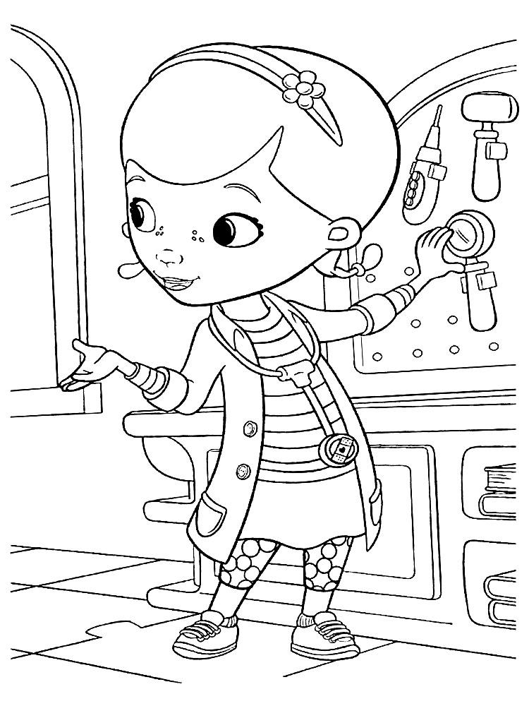 Encantador Doctor Para Colorear Páginas Gratis Imprimibles Galería ...